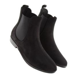 Kalosze damskie sztyblety czarne D61 Black 2