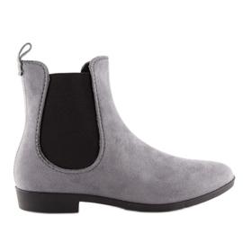 Kalosze damskie sztyblety szare D61 Grey 1
