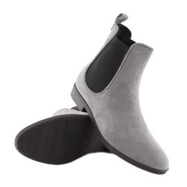 Kalosze damskie sztyblety szare D61 Grey 2