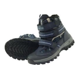 American Club American kozaki trzewiki buty zimowe 87433 granatowe białe czarne 4