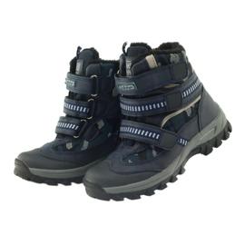 American Club American kozaki trzewiki buty zimowe 87433 granatowe białe czarne 3
