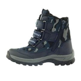 American Club American kozaki trzewiki buty zimowe 87433 granatowe białe czarne 2