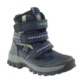 American Club American kozaki trzewiki buty zimowe 87433 granatowe białe czarne 1