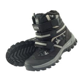 American Club American kozaki trzewiki buty zimowe 87433 czarne białe szare 4