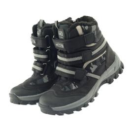 American Club American kozaki trzewiki buty zimowe 87433 czarne białe szare 3