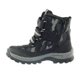 American Club American kozaki trzewiki buty zimowe 87433 czarne białe szare 2