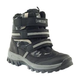 American Club American kozaki trzewiki buty zimowe 87433 czarne białe szare 1