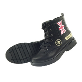 American Club American super Workery buty zimowe czarne żółte czerwone 5