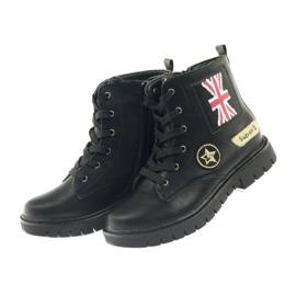 American Club American super Workery buty zimowe czarne żółte czerwone 4
