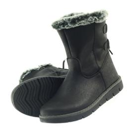 American Club American kozaczki buty zimowe z puszkiem czarne 5