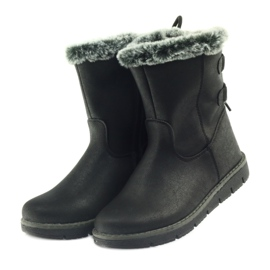 American Club American kozaczki buty zimowe z puszkiem czarne 4