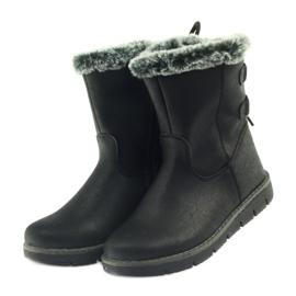 American Club American kozaczki buty zimowe z puszkiem czarne 3