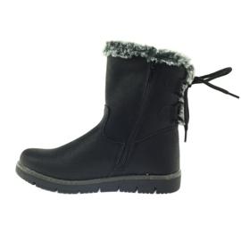 American Club American kozaczki buty zimowe z puszkiem czarne 2