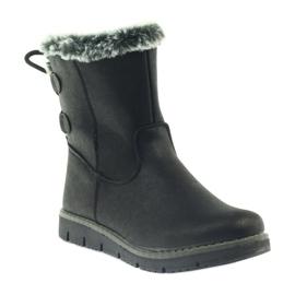 American Club American kozaczki buty zimowe z puszkiem czarne 1