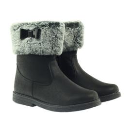 American Club American kozaczki buty zimowe z futerkiem czarne 4
