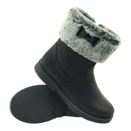 American Club American kozaczki buty zimowe z futerkiem czarne 3