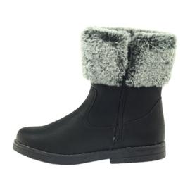 American Club American kozaczki buty zimowe z futerkiem czarne 2