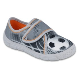 Befado obuwie dziecięce 557X038 białe szare 1