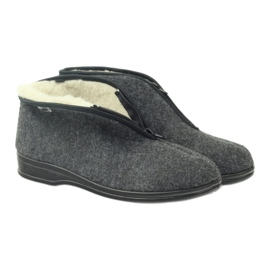 Befado buty męskie ciepłe kapcie 100M047 szare 3
