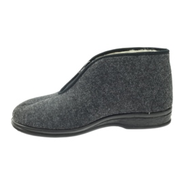 Befado buty męskie ciepłe kapcie 100M047 szare 1