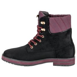 Ideal Shoes Czarne traperki 2