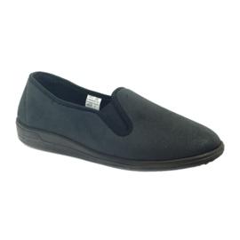 Befado buty męskie tenisówki kapcie 013M312 czarne 1
