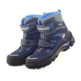 Kozaki membrana Bartek 47673 niebieskie szare granatowe 4