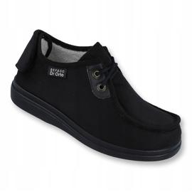 Befado obuwie damskie pu 387D005 czarne 1
