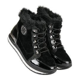 Aclys Modne Wiązane Sneakersy czarne 6