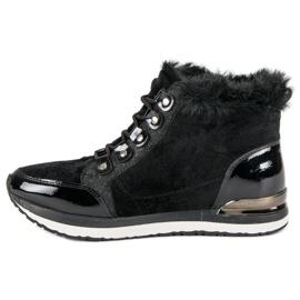 Aclys Modne Wiązane Sneakersy czarne 2