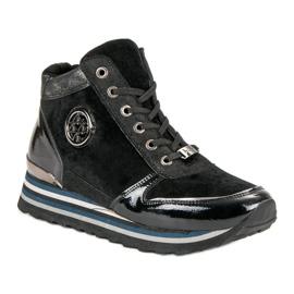 Aclys Sneakersy czarne 1
