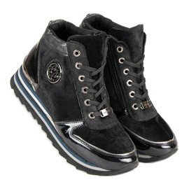 Aclys Sneakersy czarne 7