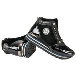 Aclys Sneakersy czarne 4
