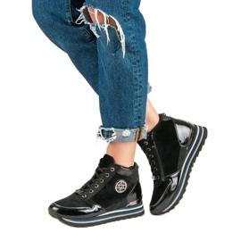 Aclys Sneakersy czarne 6