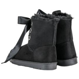 Kylie Wiązane Śniegowce czarne 3