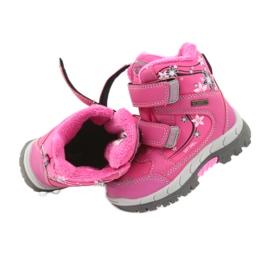 American Club American kozaki buty zimowe z membraną 3121 różowe 4