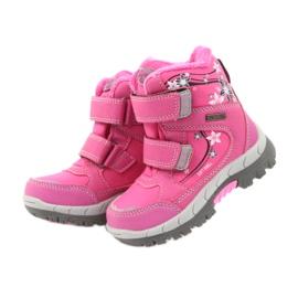 American Club American kozaki buty zimowe z membraną 3121 różowe 3