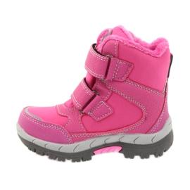 American Club American kozaki buty zimowe z membraną 3121 różowe 2