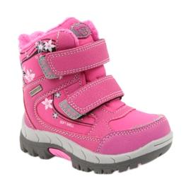 American Club American kozaki buty zimowe z membraną 3121 różowe 1
