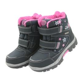 American Club American kozaki buty zimowe z membraną 3121 szare różowe 4