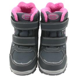 American Club American kozaki buty zimowe z membraną 3121 szare różowe 3