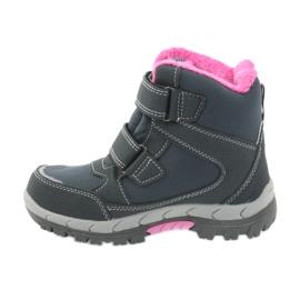 American Club American kozaki buty zimowe z membraną 3121 szare różowe 2