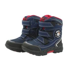 American Club American kozaki buty zimowe z membraną 0926 czarne czerwone granatowe 4