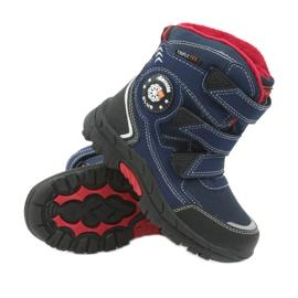 American Club American kozaki buty zimowe z membraną 0926 czarne czerwone granatowe 3