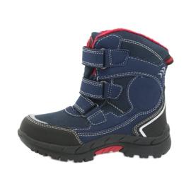 American Club American kozaki buty zimowe z membraną 0926 czarne czerwone granatowe 2