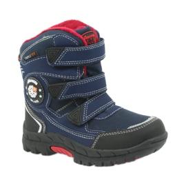 American Club American kozaki buty zimowe z membraną 0926 czarne czerwone granatowe 1