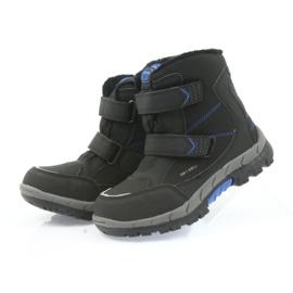 American Club American kozaki buty zimowe z membraną 3123 czarne niebieskie 4