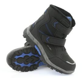 American Club American kozaki buty zimowe z membraną 3123 czarne niebieskie 3