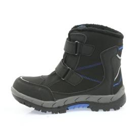 American Club American kozaki buty zimowe z membraną 3123 czarne niebieskie 2