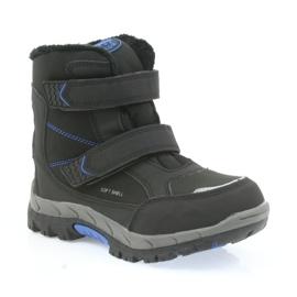 American Club American kozaki buty zimowe z membraną 3123 czarne niebieskie 1